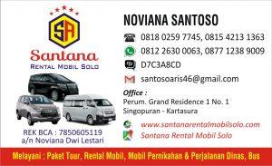Santana Rental Mobil Daftar Harga Rental Mobil Solo
