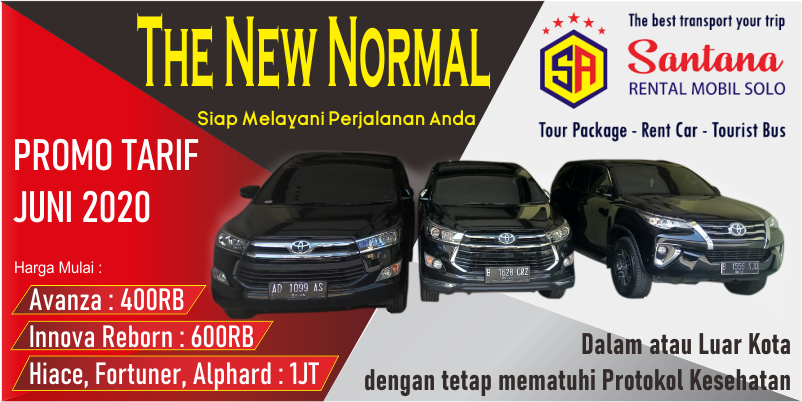 Promo New Normal Santana Rental Mobil Solo